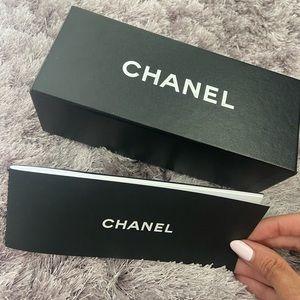 CHANEL empty sunglasses box with original booklet